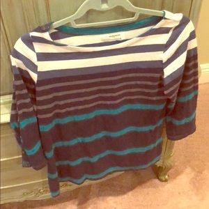 Anthropologie striped top with button details